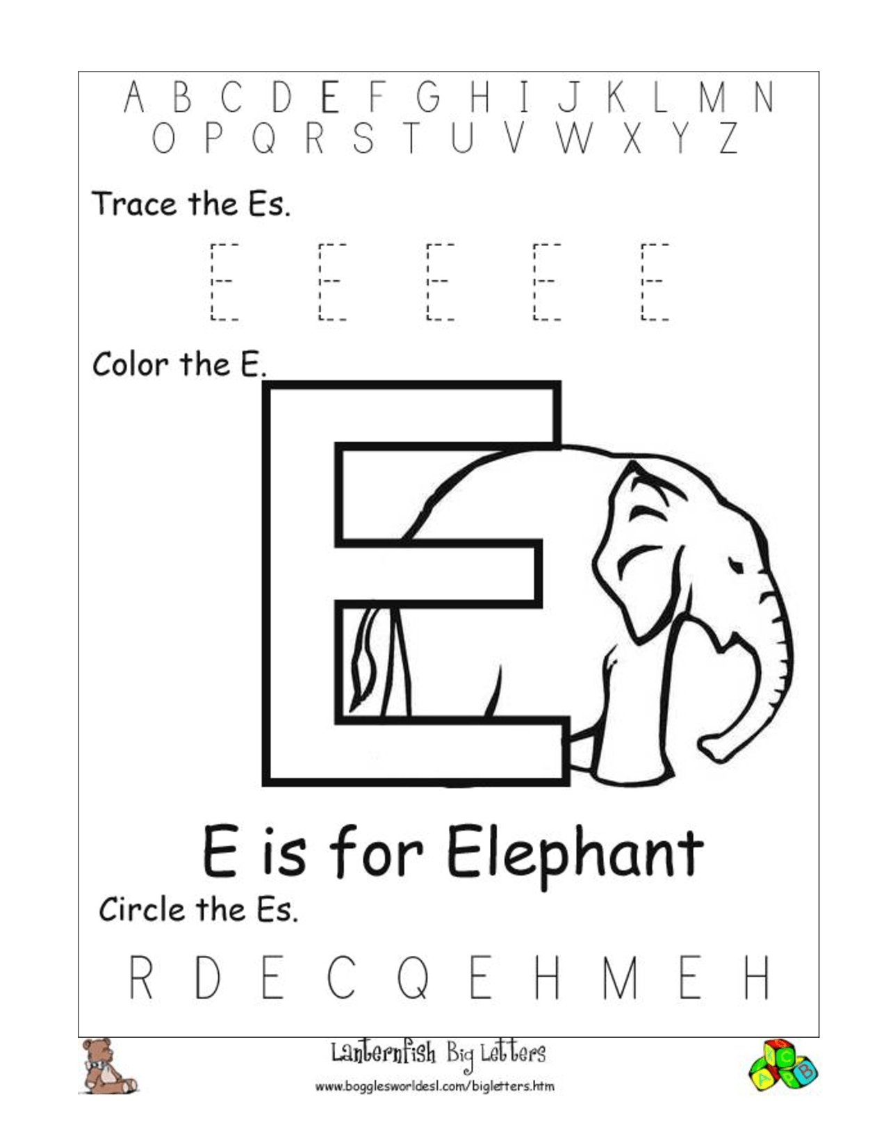 F Abc Worksheet For Preschoolers