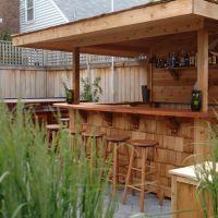 slate outdoor built in patio bar