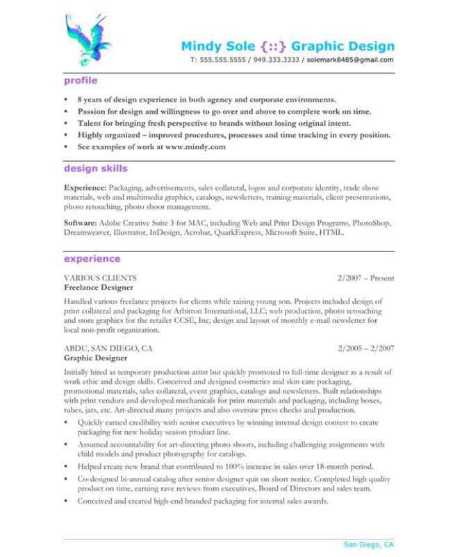 graphic designer resume samples resume sample