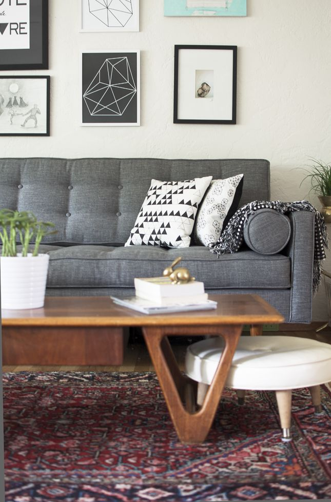 living room color schemes black leather couch images contemporary vintage persian rug   :: floor space pinterest ...