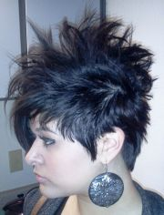 short hair. faux hawk. hairstyles