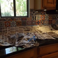 Mexican Backsplash Tiles Kitchen Moen Chateau Faucet Tile Diy How To Do Stuff