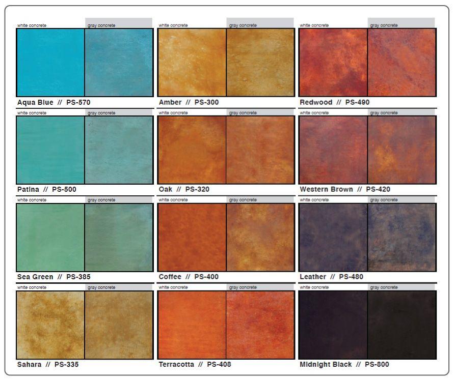Kemiko acid stain color chart - Scofield revive exterior concrete stain ...