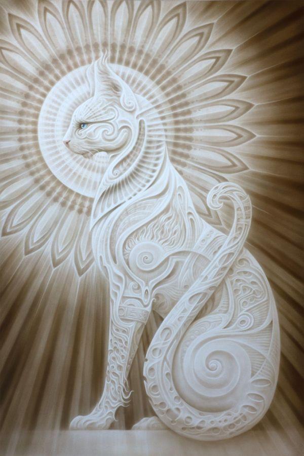 Ra - Mau Egyptian Cat . Andrew Gonzalez Art Posters