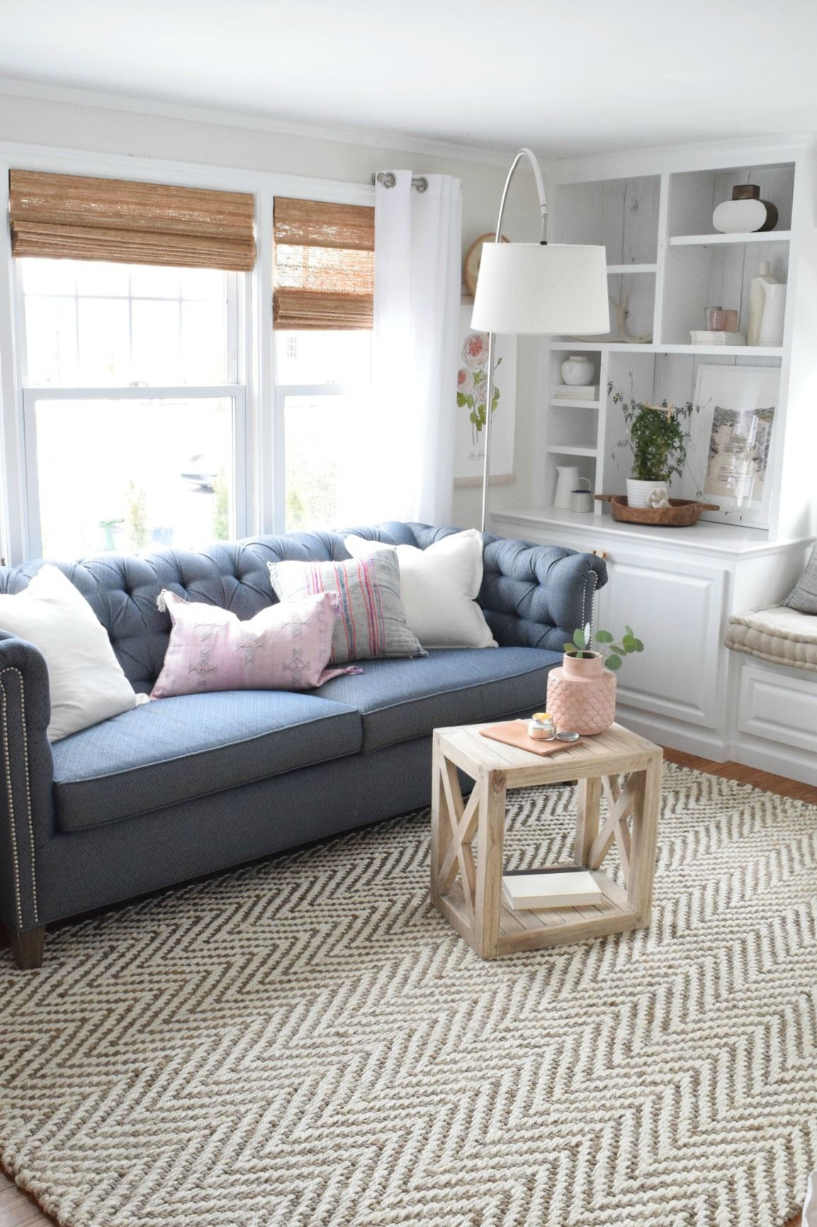 Spring home decor ideas bright living room also tour in our cape rh pinterest