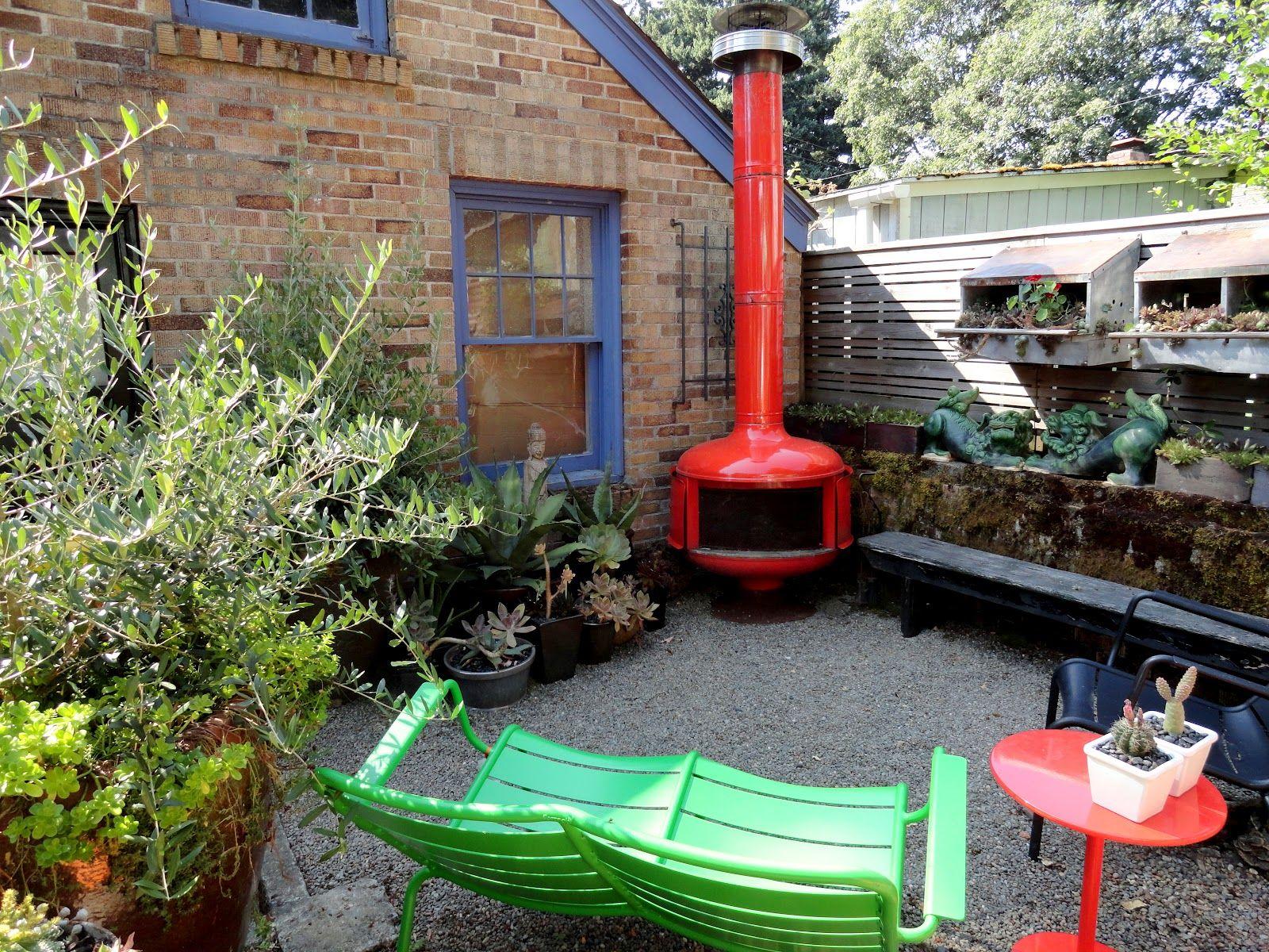 JJ Sousa's Funky Portland Garden Fir Pits Fireplaces Outdoor