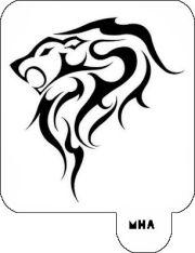 hair art stencil - lion design