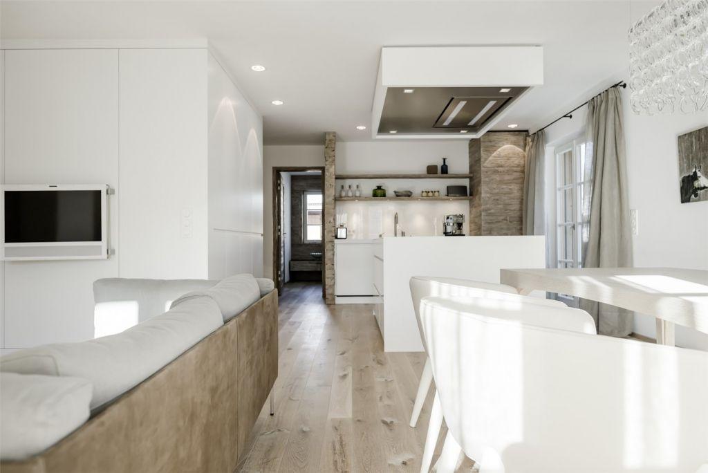 Modernes Wohnzimmer mit offener Kche  Ideen wohnzimmer  Pinterest  Wohnzimmer mit offener