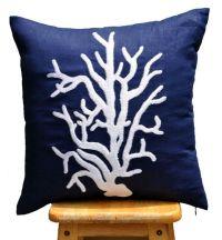 Lumbar Pillow Cover, Decorative Pillow Cover, Dark Blue ...