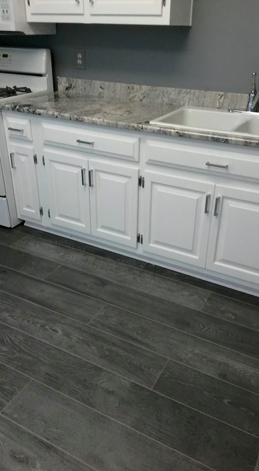 Love The Grey And White Combination In This Kitchen From