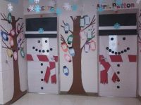 classroom door decorations for winter