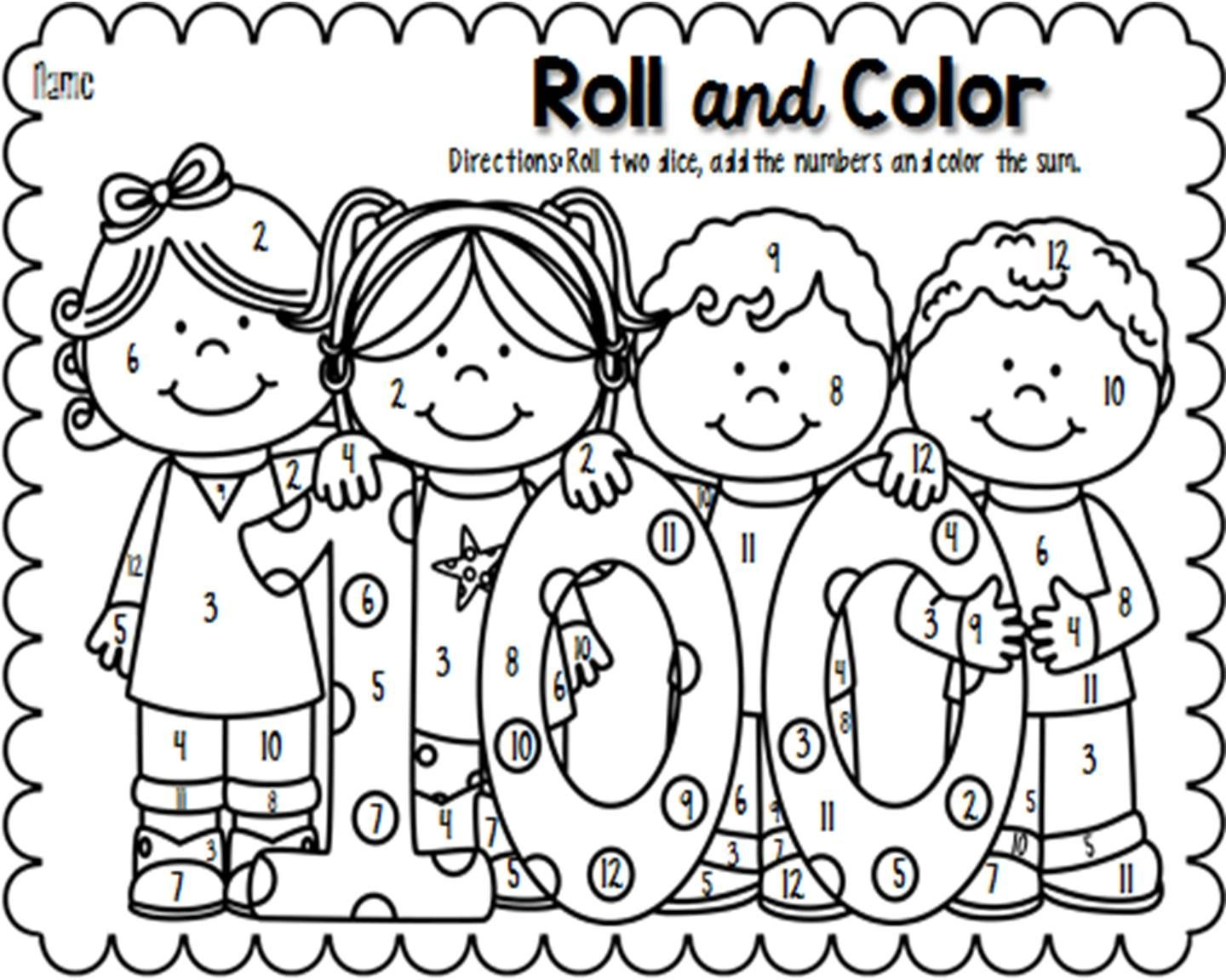 Freebie Celebrate The 100th Day Of School By Having