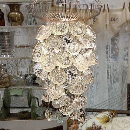 For A Quick Chandelier Hang Punch Bowl Bups From Wire Hanger Wala Instant Chicness