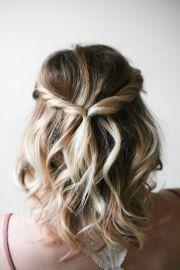 simple twist hairdo-medium hairstyles