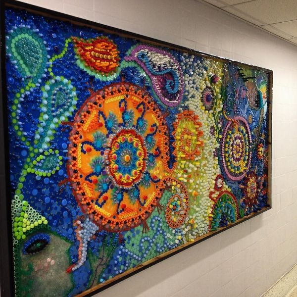 Plastic Mosaic Art