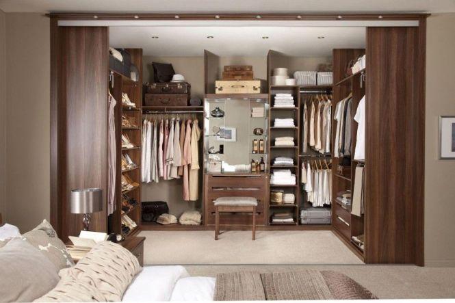 Extraordinary Elegant Natural Master Bedroom Walk In Closet Design Cool Brown Theme With Beautiful Dresser