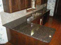 Tan Brown Granite Countertops with 4 x 4 Rialto Beige ...
