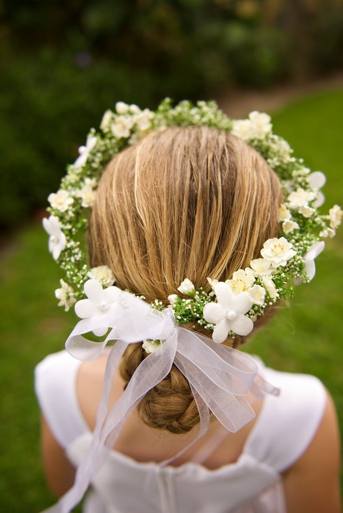 Wreath Headpiece for Flower Girl  Hair Flowers and