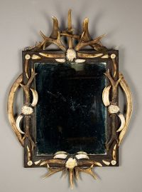 black forest antler mirror ca. 1900 | take a look in the ...