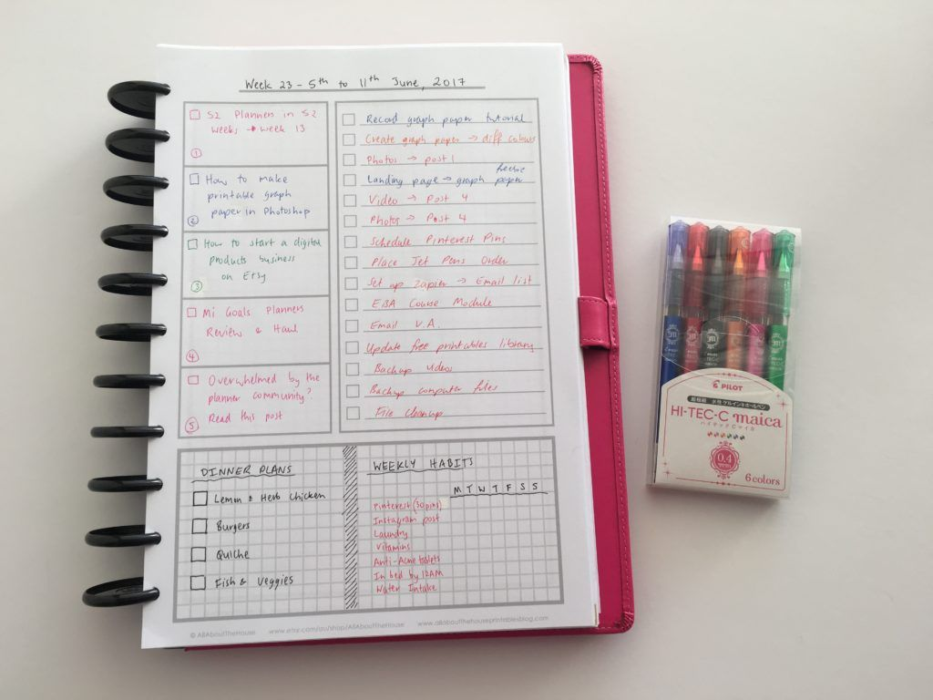 Weekly Planning Using Only A Checklist And Habit Tracker Download A Free Printable Week 20 Of