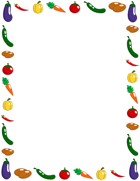 Vegetable page border Free downloads at http