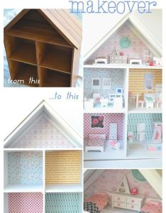Doll   house makeover also scale decorating and houses rh pinterest