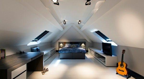 Schlafzimmer im Dachgeschoss  25 coole Designs  Live Modern  Pinterest  Dachgeschosse