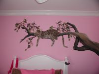 neat idea for a leopard painting, just not diggin it in a ...