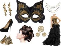 """""""Black and Gold Evening Gown Masquerade"""" by costumelicious ..."""