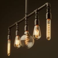 Bakelite multi bulb Plumbing Pipe Chandelier. This light ...