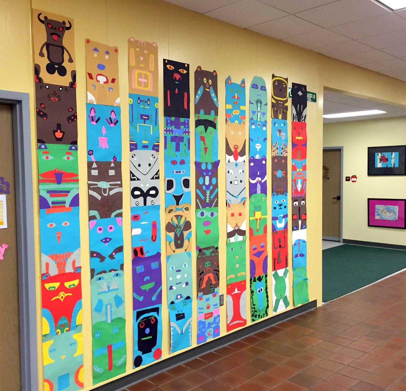 Thomas Elementary Art 4th Grade Totem Poles Integrating