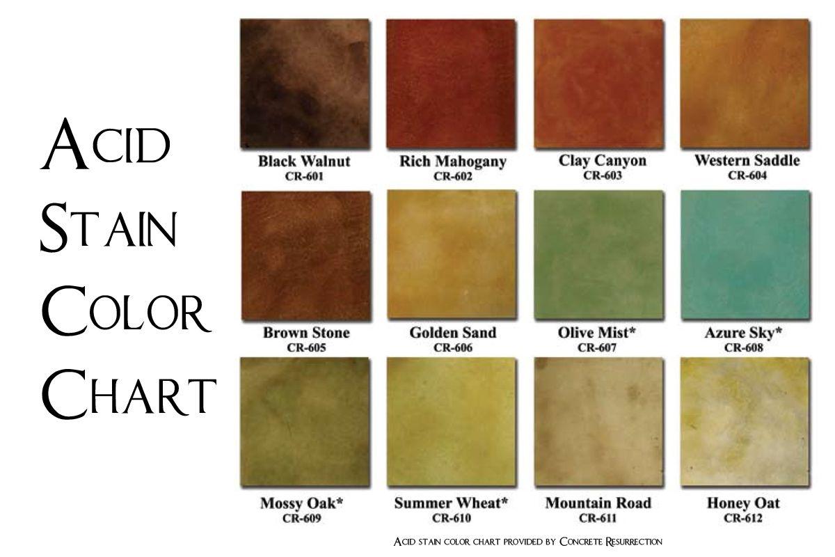 Concrete Stain Colors Home Depot