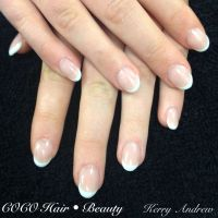 Sculptured French Round Acrylic Nails