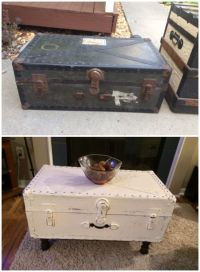 Vintage military trunk, repurposed into a coffee table ...