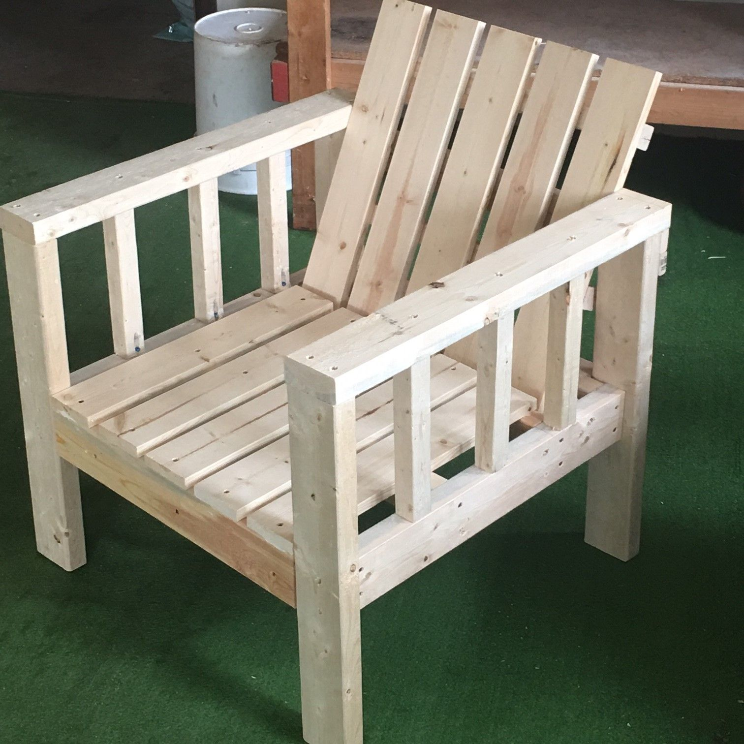 White Wood Chair My Simple Outdoor Lounge Chair With 2x4 Modification Do