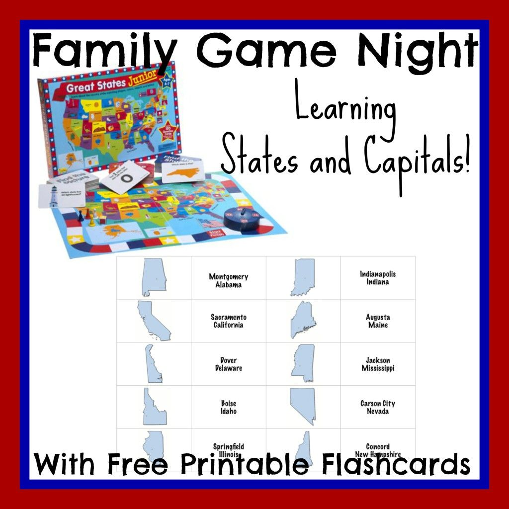 Learning States And Capitals With Family Game Night