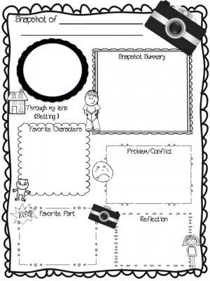 Snapshot of a Novel: Book Report Template from Sweet