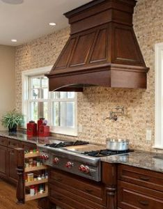Pull out each side of range top kitchen traditional minneapolis knight also rh pinterest