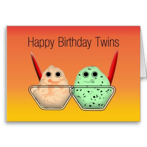 Happy Birthday Twins Card Birthday Card For Twins