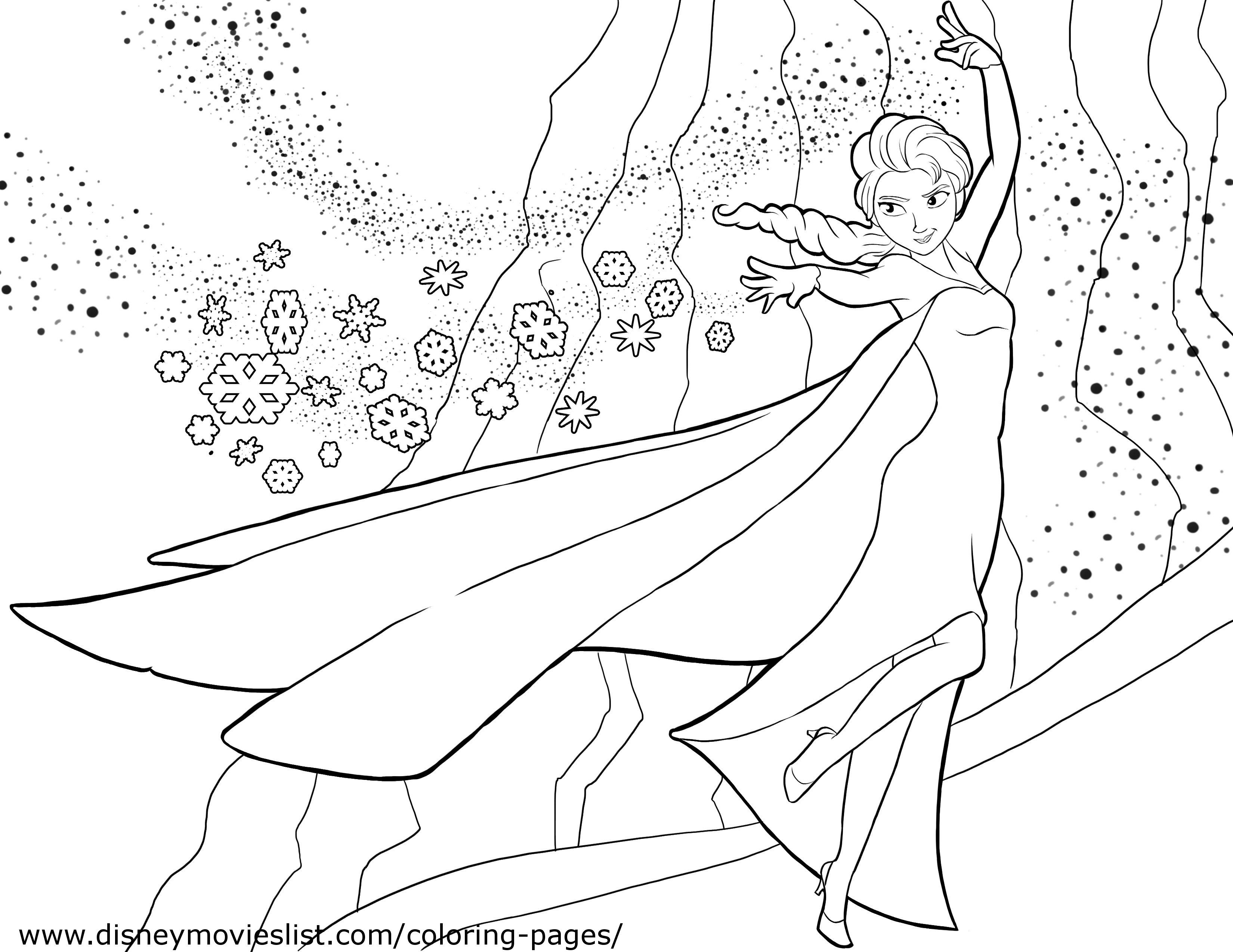 Disney's Frozen Coloring Pages, Free Disney Printable