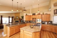 Denver Hickory Kitchen Cabinets, I like the wall color ...