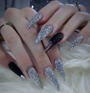 fierce custom long black and silver
