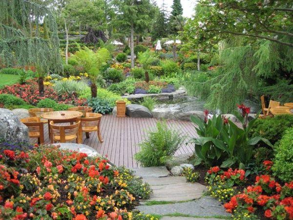 beautiful backyard garden in norway