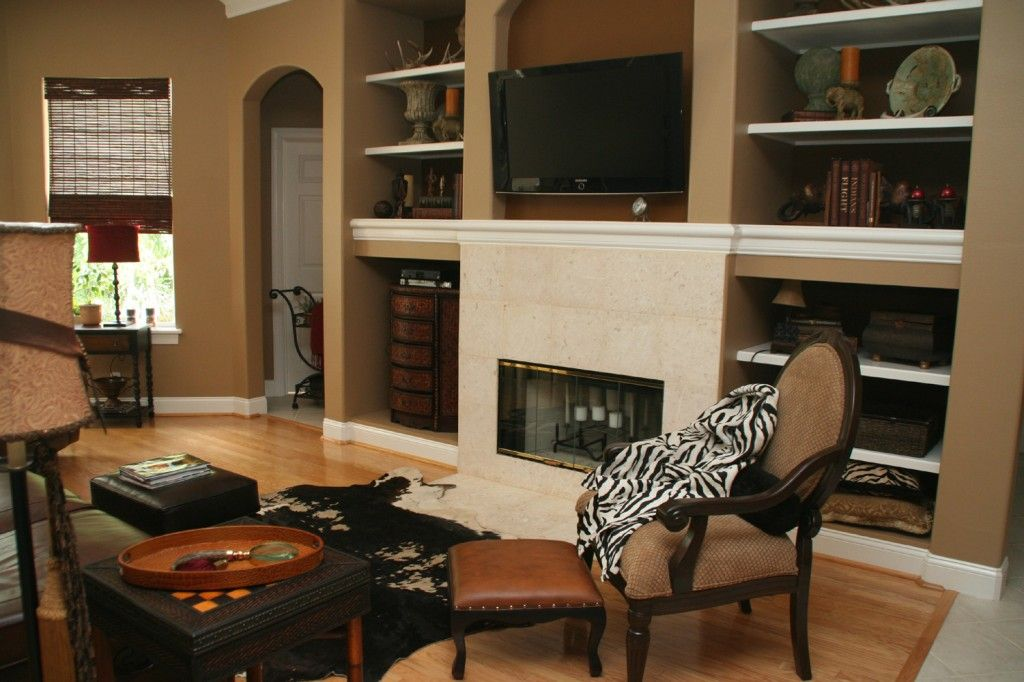 which paint color goes with brown furniture