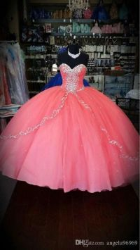 Coral Quinceanera Dresses 2016 New Unique cheap ...