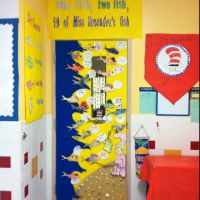 Dr. Seuss theme door decoration