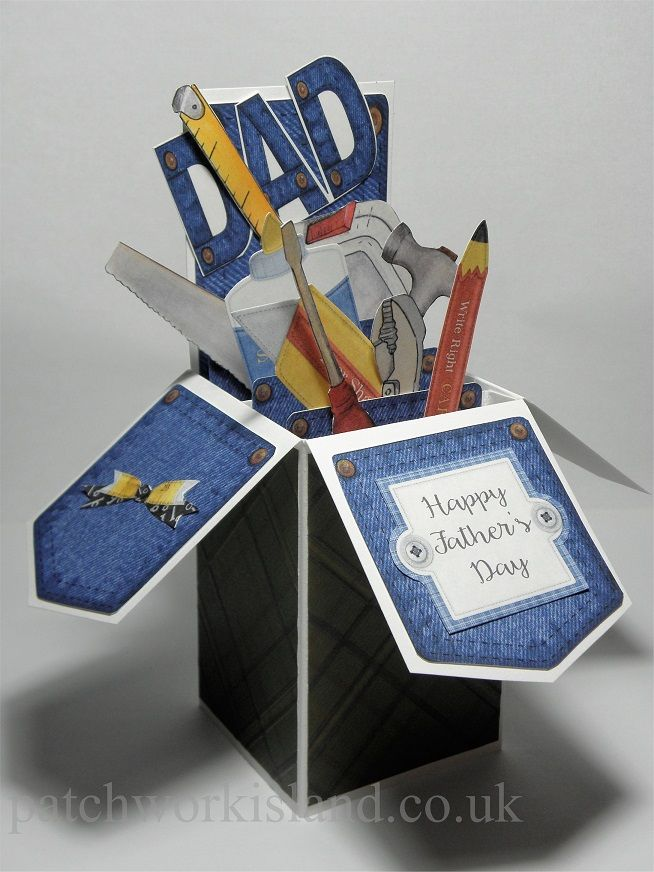 Pop Up Box Cards Fathers Day Tool Box Card Fancy Folds