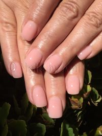 All acrylic pink overlay over natural nails | Acrylic nail ...