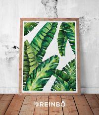 Banana Leaves, Banana Leaf Print, Palm Wall Decor ...