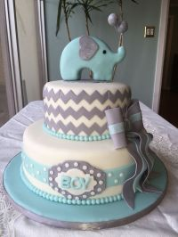 Elephant baby shower cake https://m.facebook.com ...